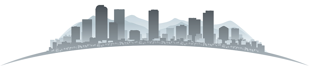Denver, Colorado Skyline in Grayscale Vector Illustration